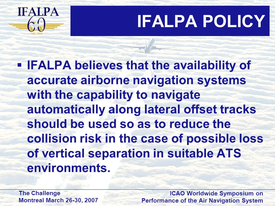 IFALPA POLICY