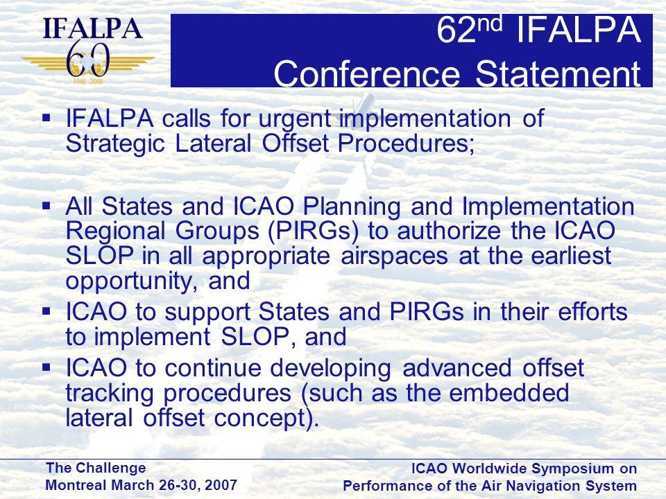 62nd IFALPA Conference Statement