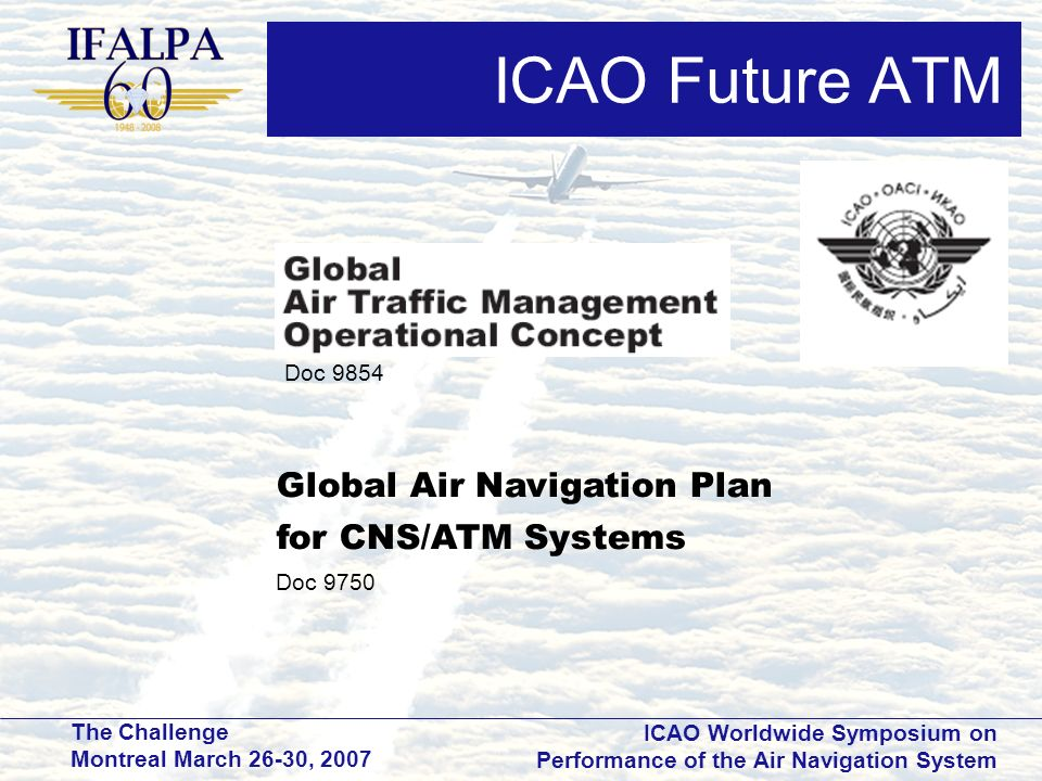 ICAO Future ATM Global Air Navigation Plan for CNS/ATM Systems