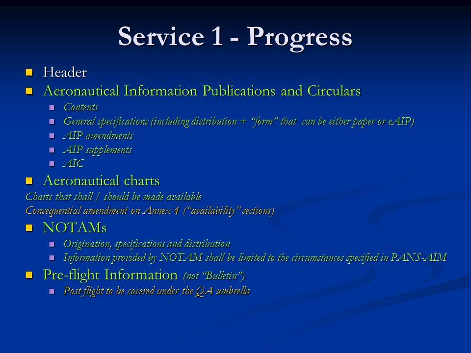 Service 1 - Progress Header