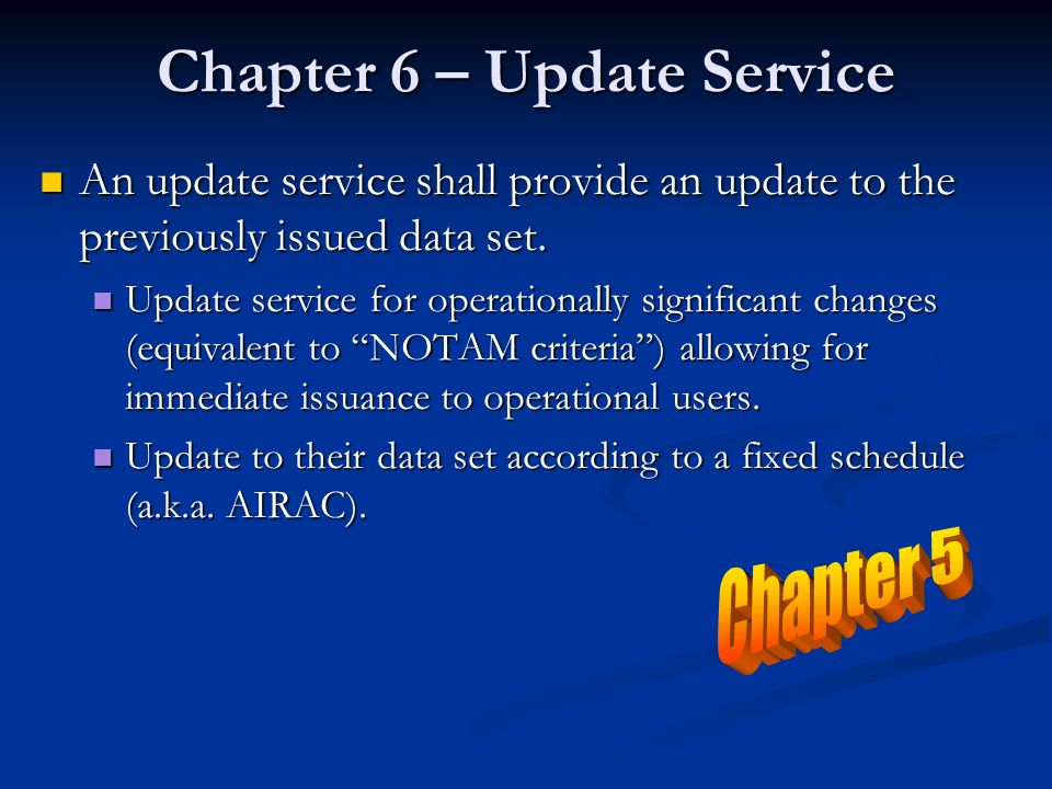 Chapter 6 – Update Service