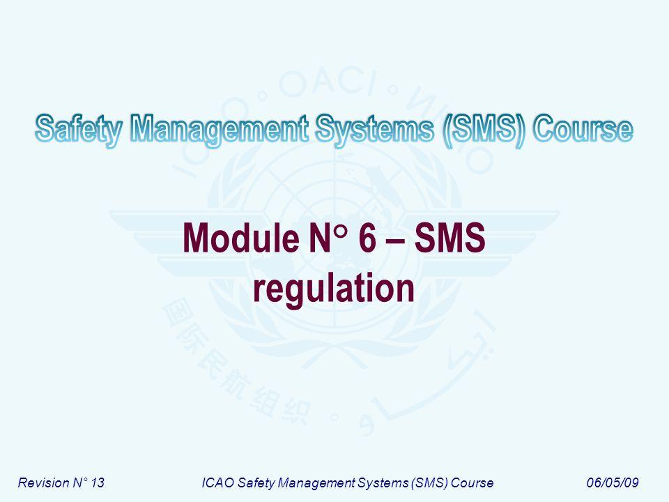 Module N° 6 – SMS regulation