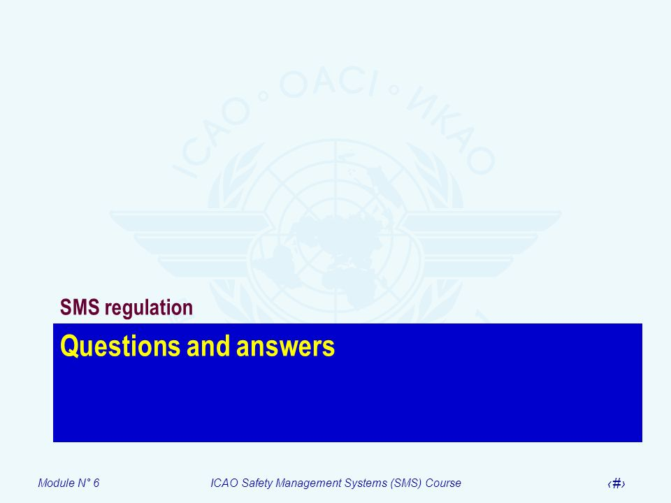 SMS regulation Questions and answers
