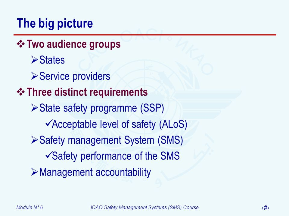 The big picture Two audience groups States Service providers