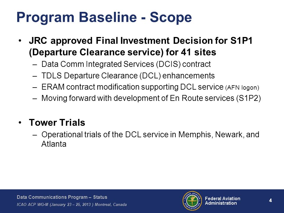 Program Baseline - Scope