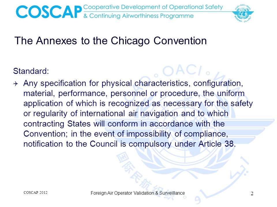 The Annexes to the Chicago Convention