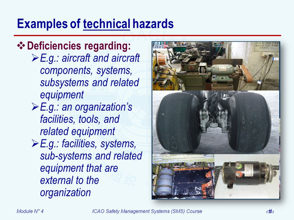 Examples of technical hazards