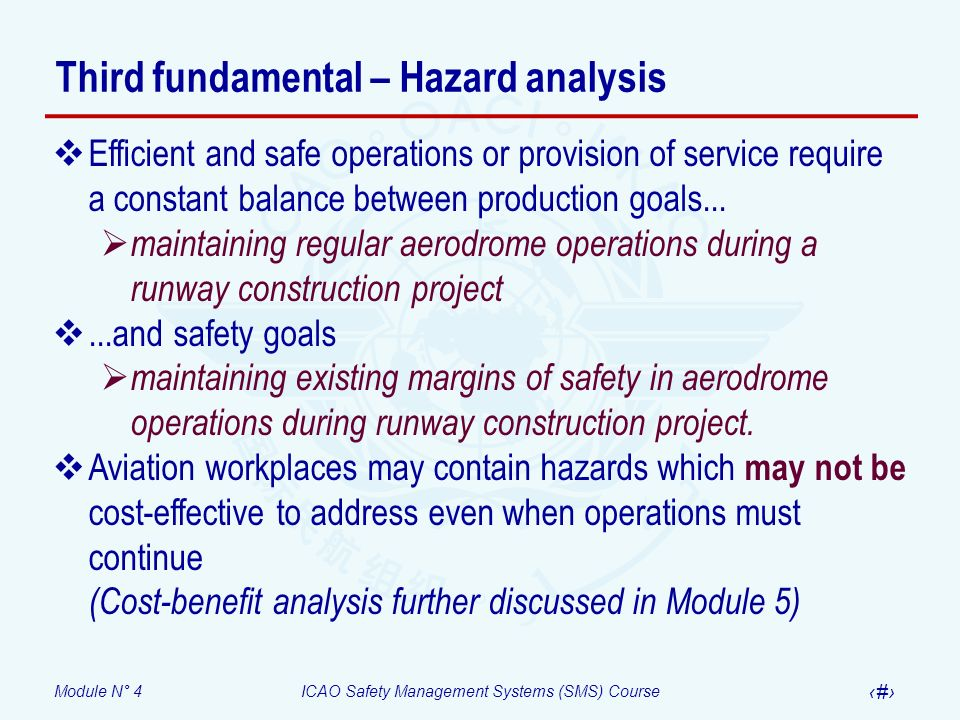 Third fundamental – Hazard analysis