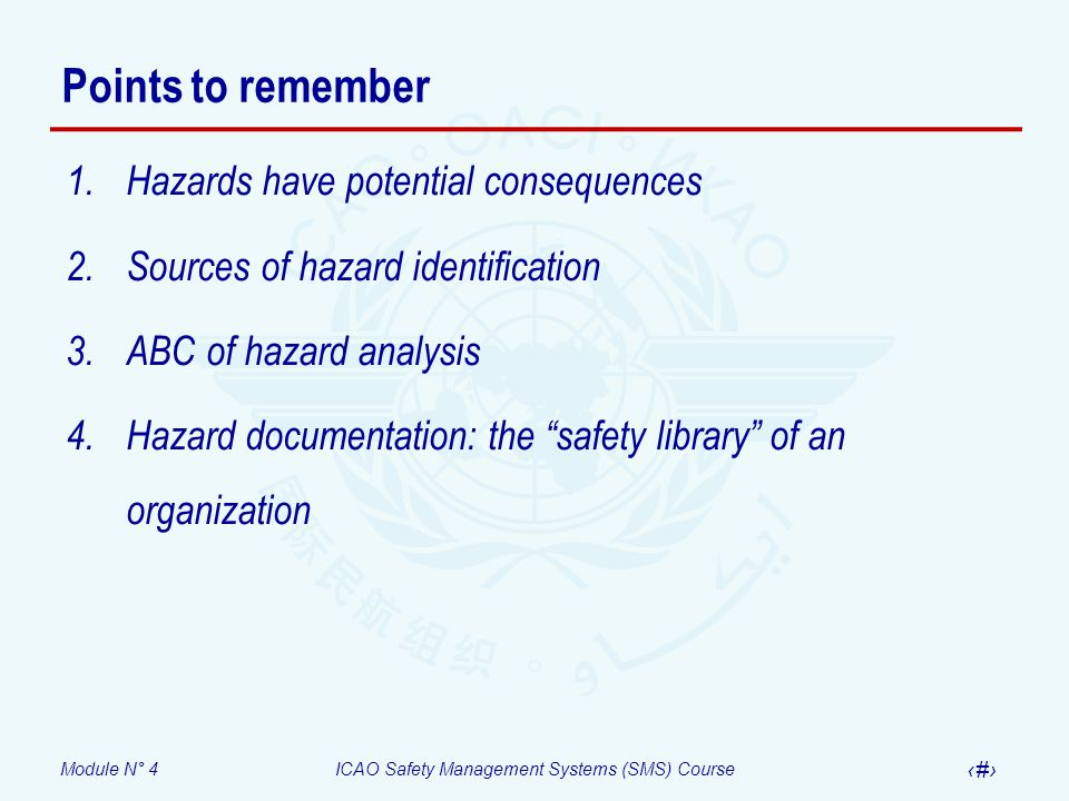 Points to remember Hazards have potential consequences