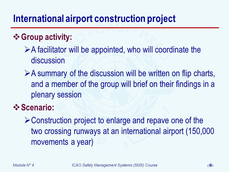International airport construction project