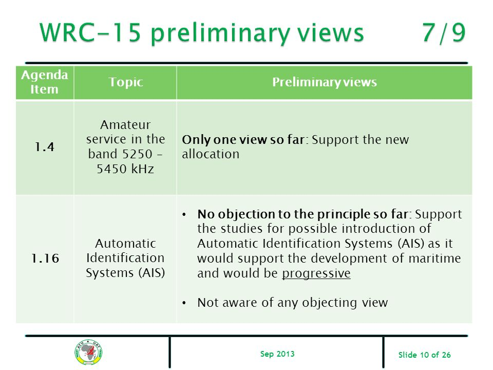WRC-15 preliminary views 7/9
