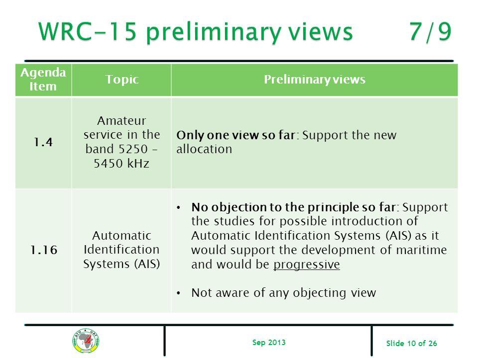 WRC-15 preliminary views 7/9