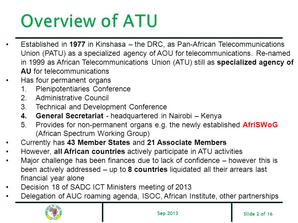 Overview of ATU