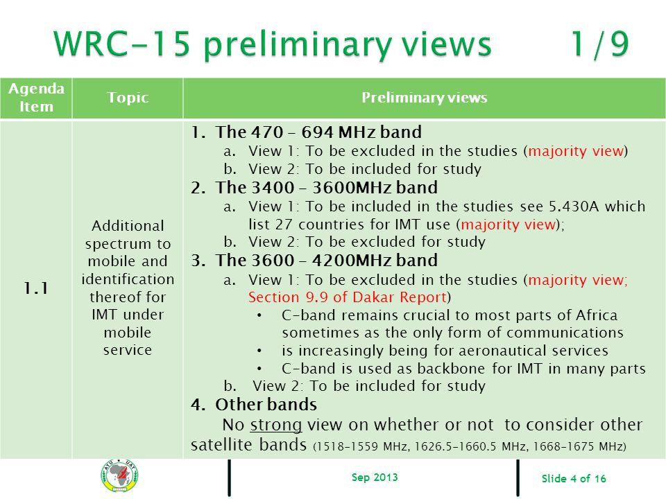 WRC-15 preliminary views 1/9