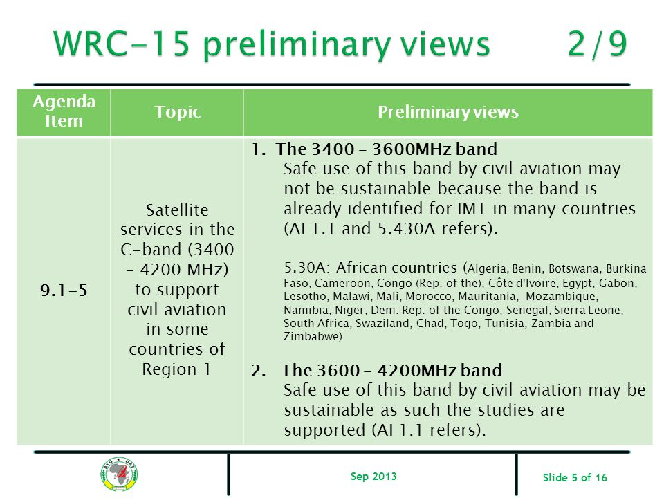 WRC-15 preliminary views 2/9