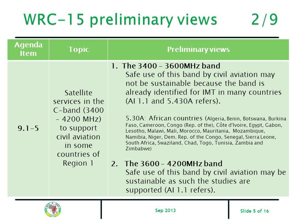WRC-15 preliminary views 2/9