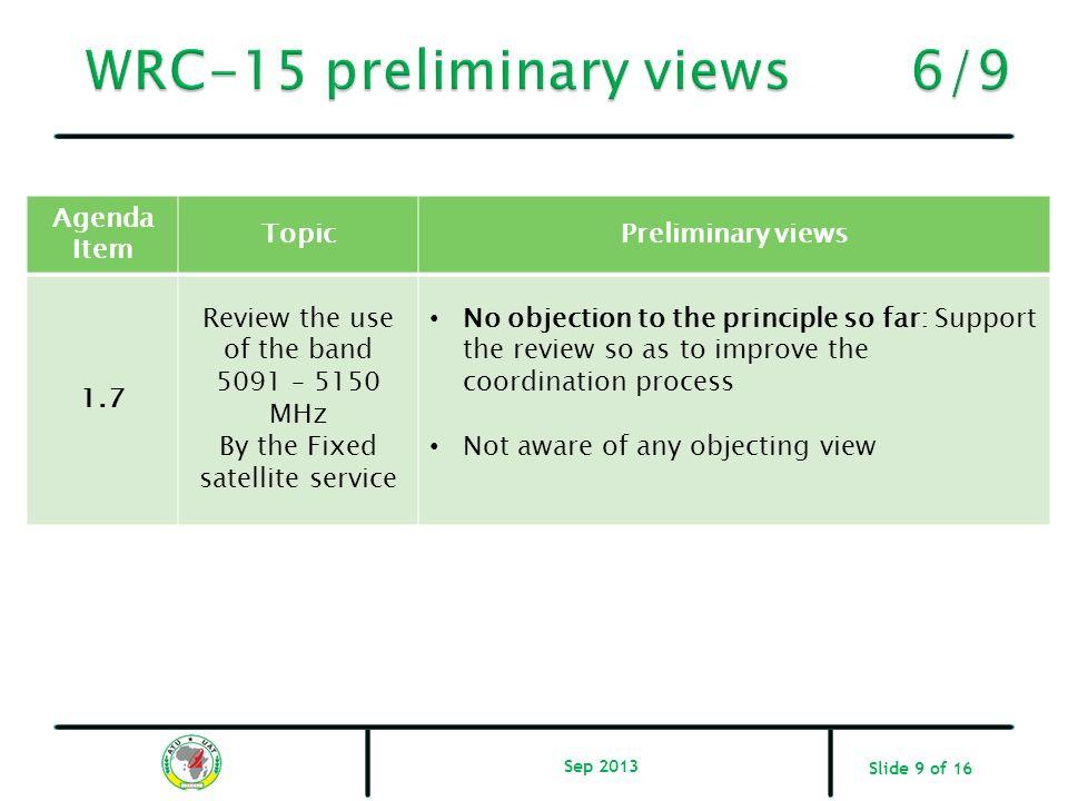 WRC-15 preliminary views 6/9
