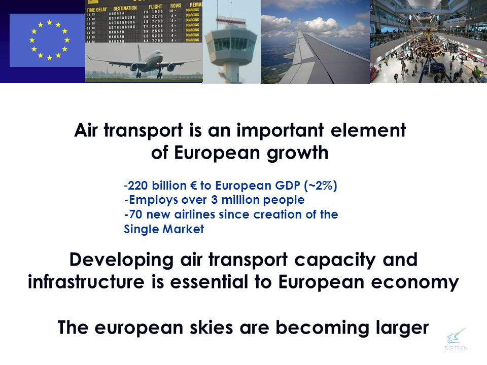 Air transport is an important element of European growth