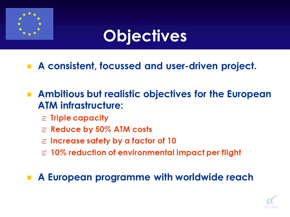 Objectives A consistent, focussed and user-driven project.
