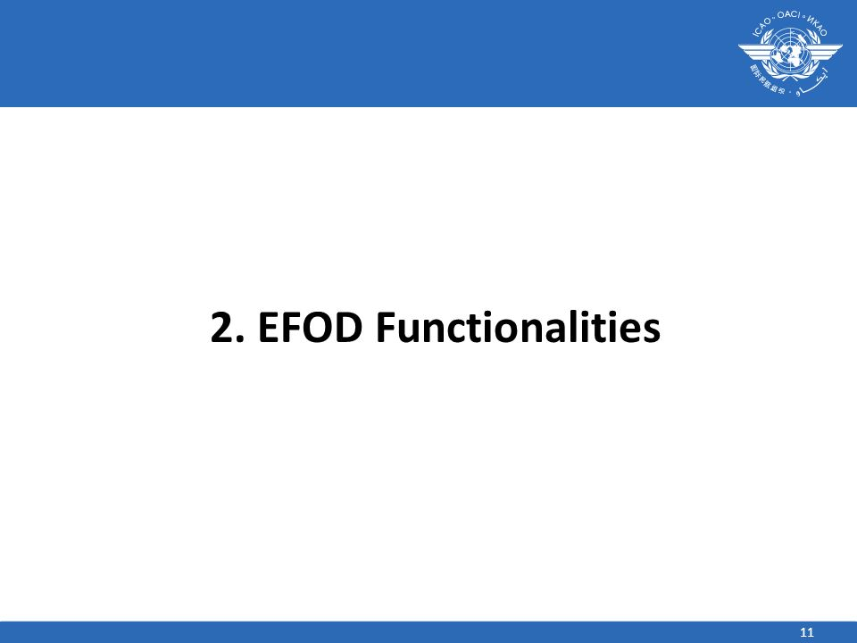 2. EFOD Functionalities