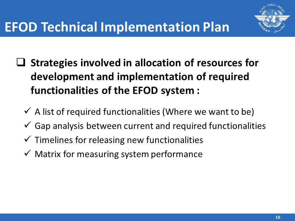 EFOD Technical Implementation Plan