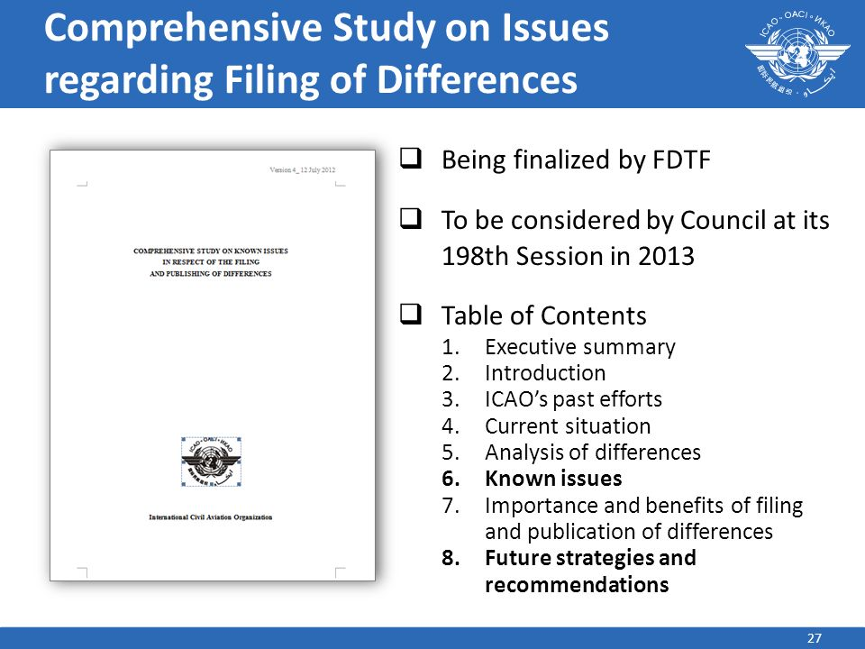 Comprehensive Study on Issues regarding Filing of Differences