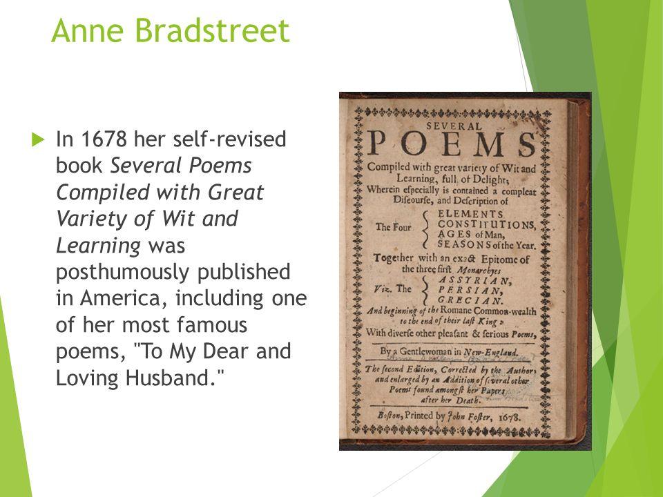 Anne Bradstreet To My Dear And Loving Husband Essay Analyzing Edward Taylor And Anne Bradstreet Essay Sample