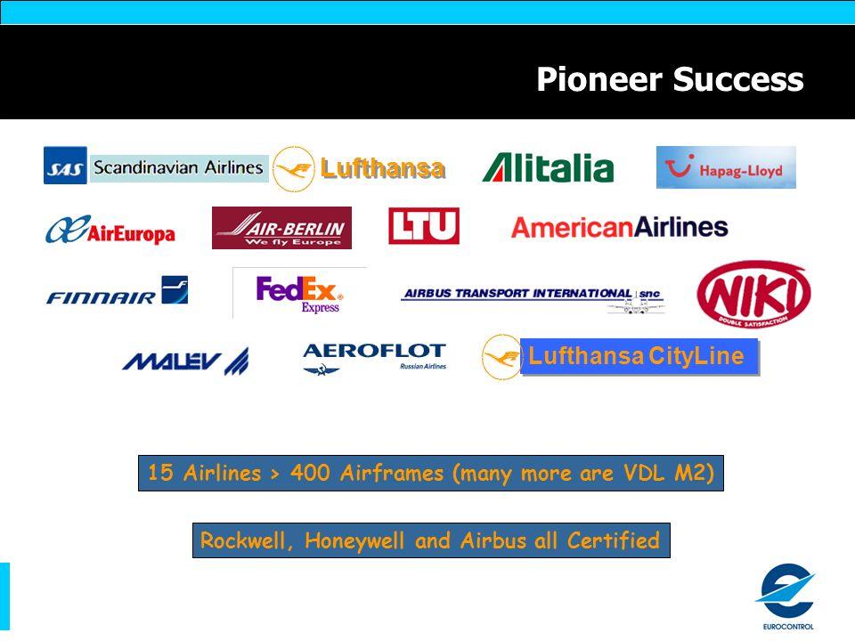 Pioneer Success Lufthansa Lufthansa CityLine