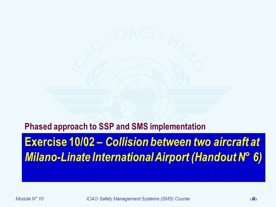 Phased approach to SSP and SMS implementation