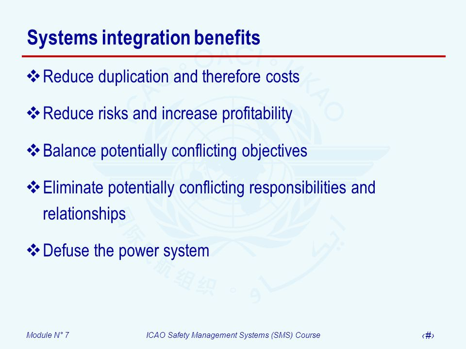 Systems integration benefits