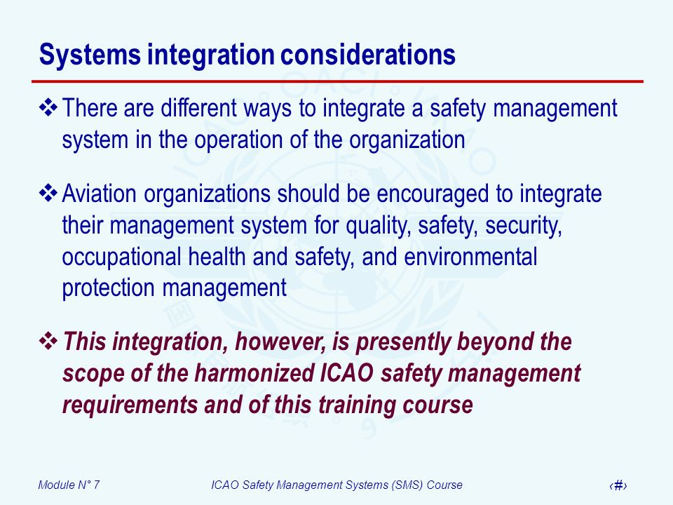 Systems integration considerations