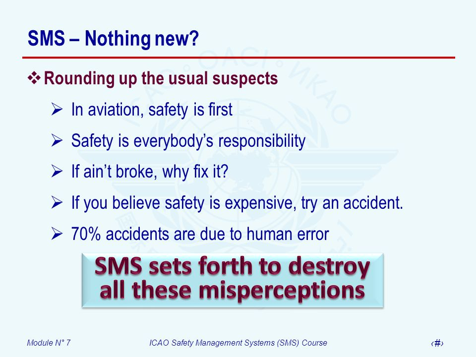 SMS sets forth to destroy all these misperceptions