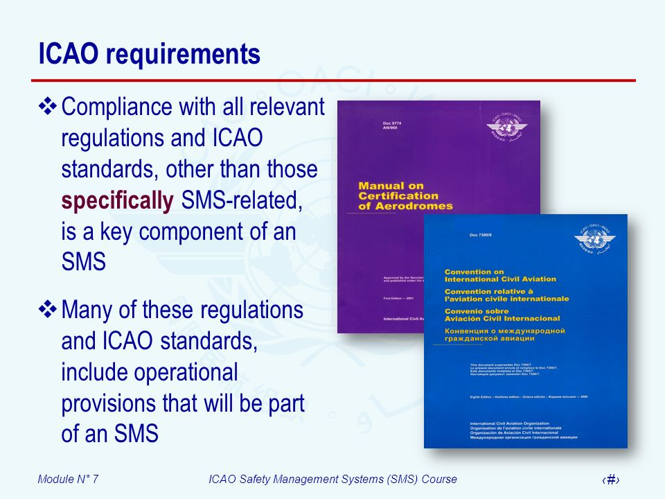 ICAO requirements