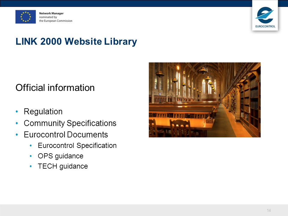 LINK 2000 Website Library Official information Regulation