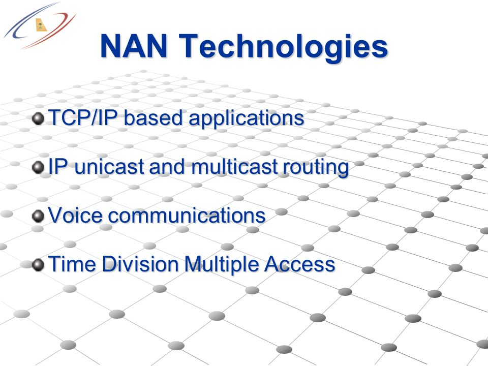 NAN Technologies TCP/IP based applications