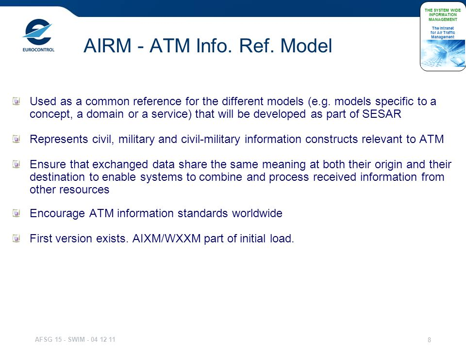 AIRM - ATM Info. Ref. Model