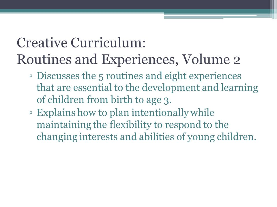 The Creative Curriculum For Infants Toddlers Twos Ppt Video - Creative curriculum lesson plan template for infants and toddlers
