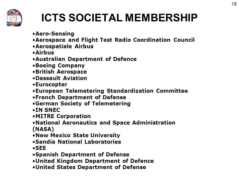 ICTS SOCIETAL MEMBERSHIP