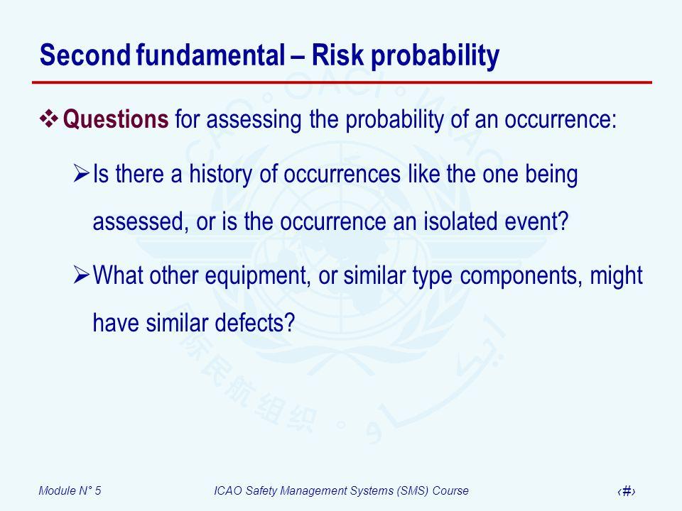 Second fundamental – Risk probability