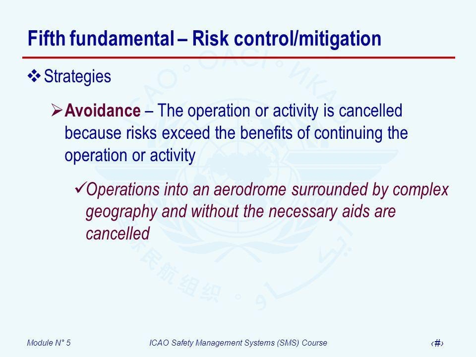 Fifth fundamental – Risk control/mitigation