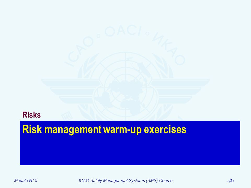Risk management warm-up exercises