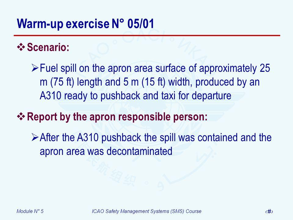Warm-up exercise N° 05/01 Scenario: