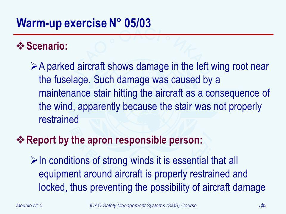 Warm-up exercise N° 05/03 Scenario: