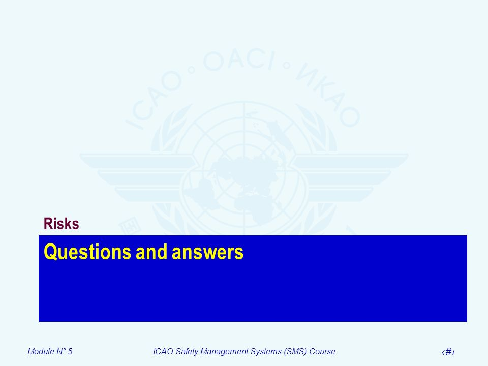 Risks Questions and answers