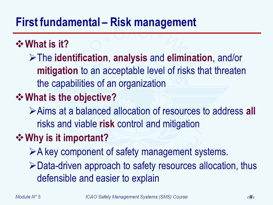First fundamental – Risk management