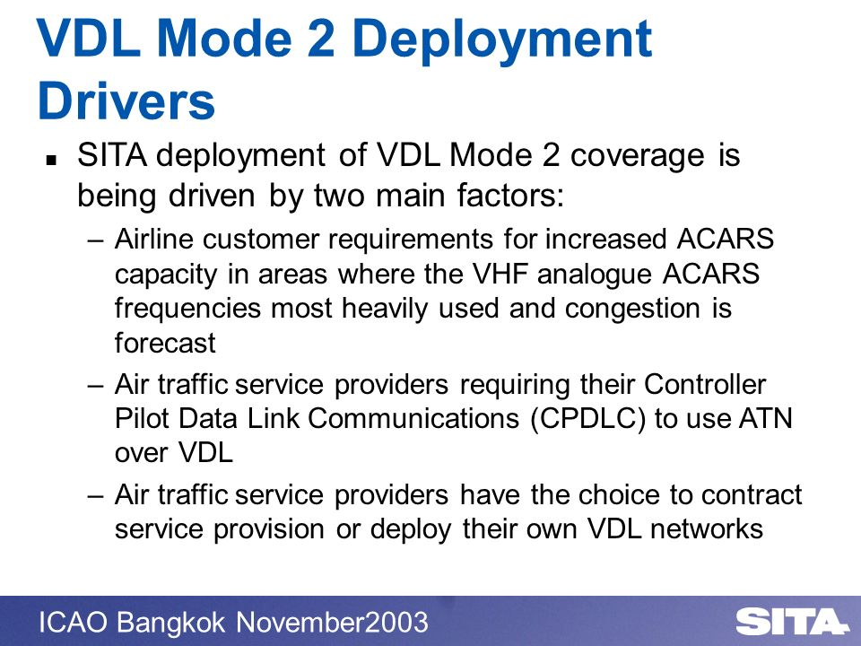 VDL Mode 2 Deployment Drivers