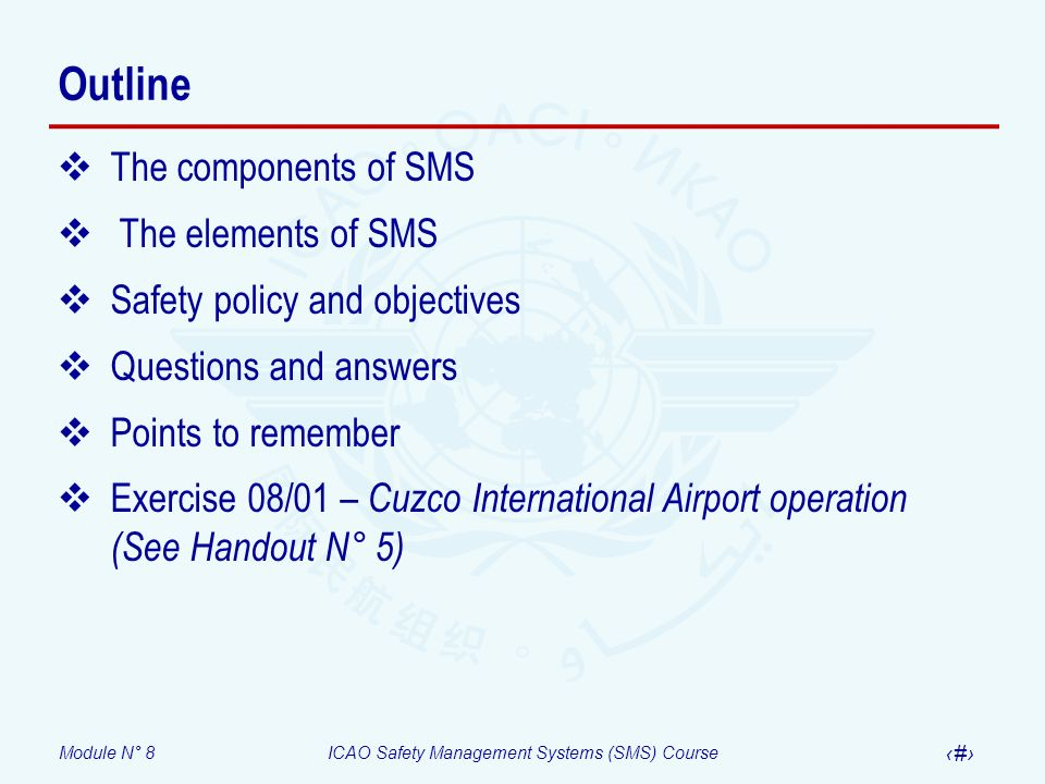 Outline The components of SMS The elements of SMS
