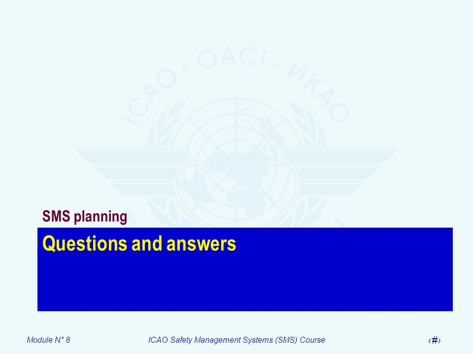 SMS planning Questions and answers