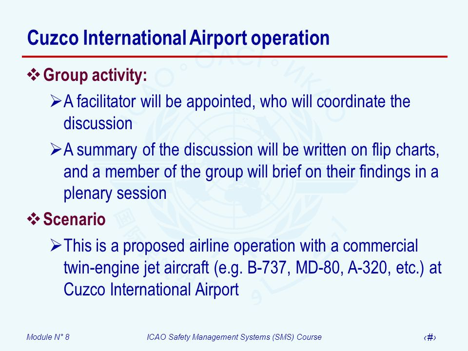 Cuzco International Airport operation
