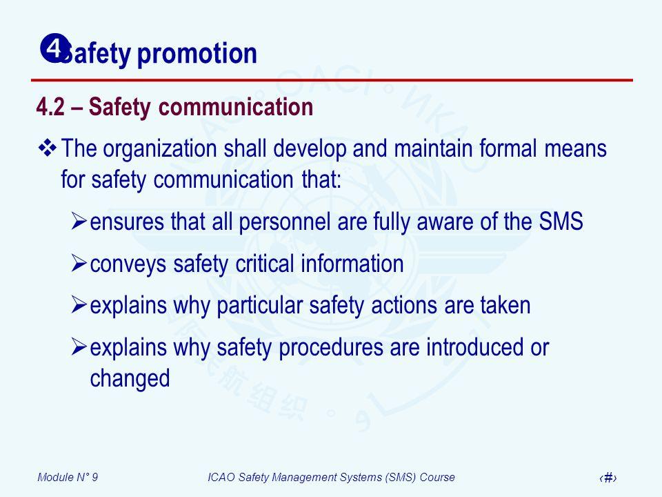 Safety promotion 4.2 – Safety communication